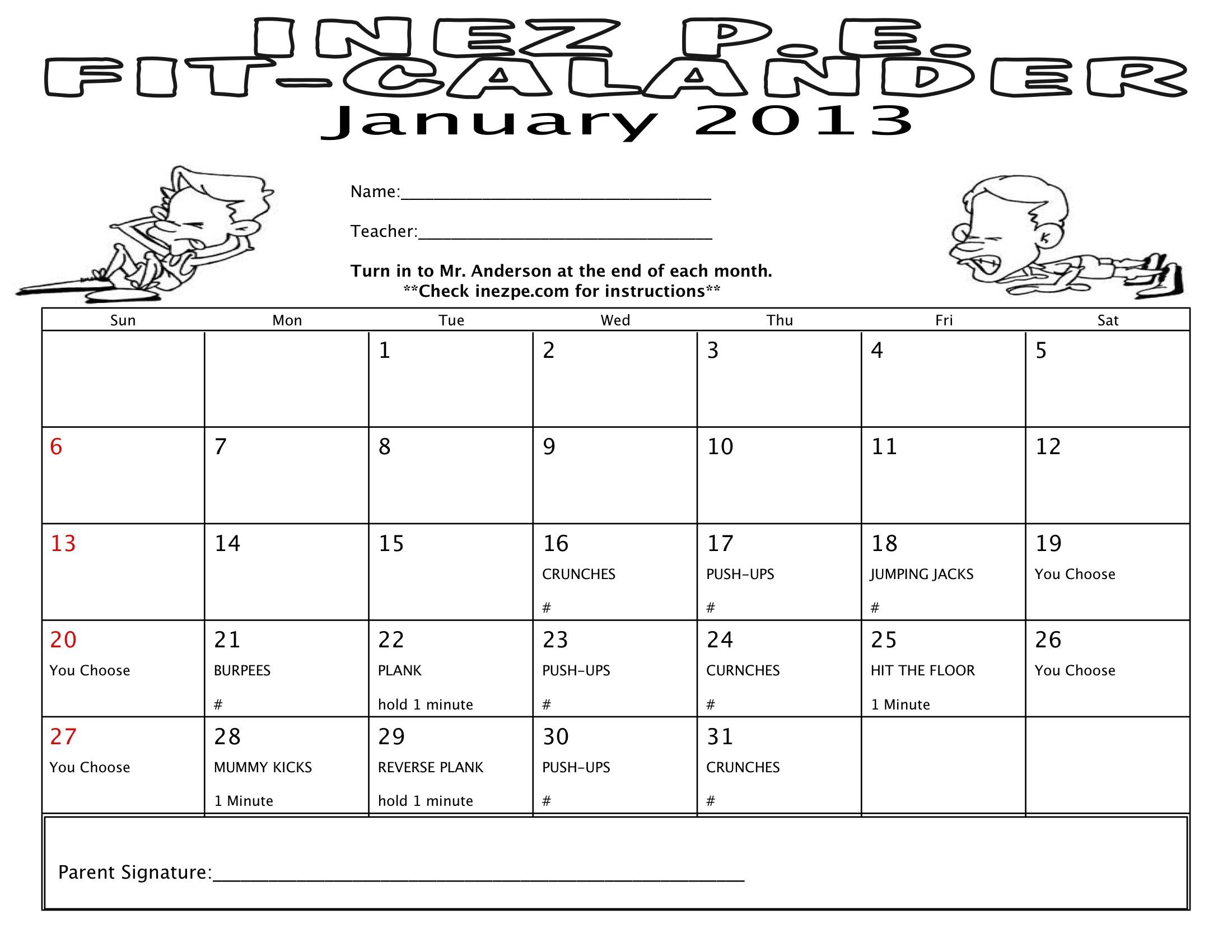 workout record sheet