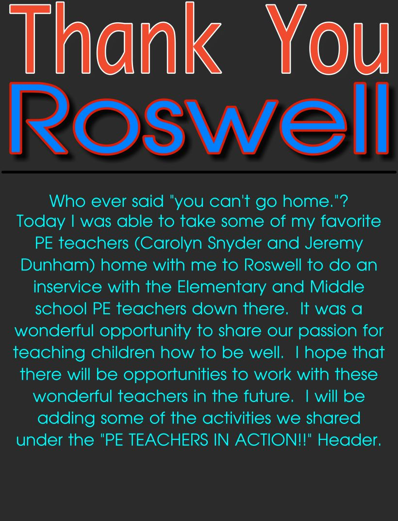 Thank You Roswell