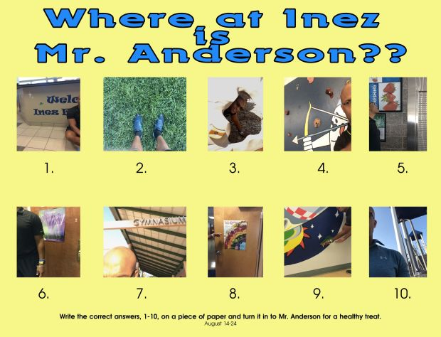 Where at Inez is Mr. Anderson?