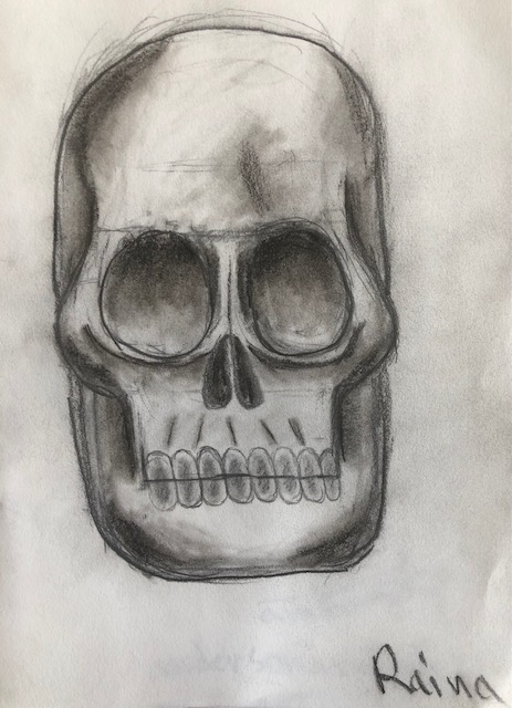 Raina's Skull Art Work!!